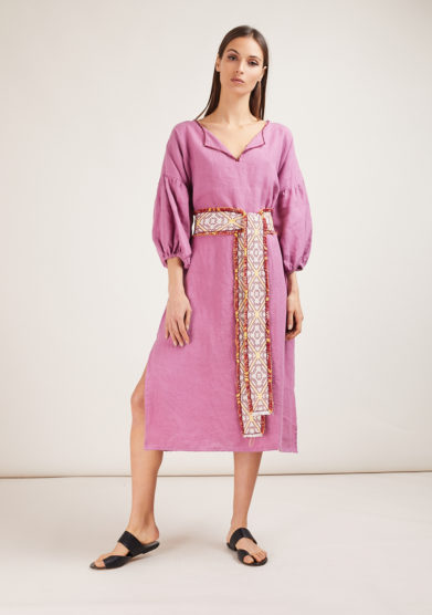 kimono con cintura rosa nina leuca