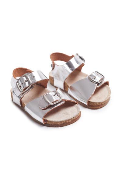 sandali pepè pelle vegetale argento