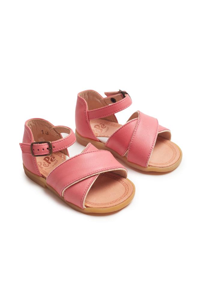 pepè sandalo primi passi heritage rosa acceso