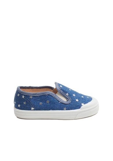 scarpa pepè slip on denim stelle