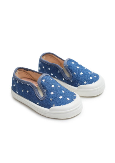 pepè scarpa slip on denim stelle