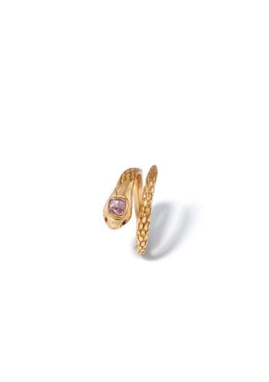 atelier molayem anello in oro rosa 18kt con diamante naturale