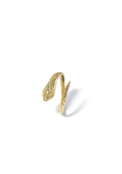 Atelier molayem anello snake bimba in oro giallo 18kt
