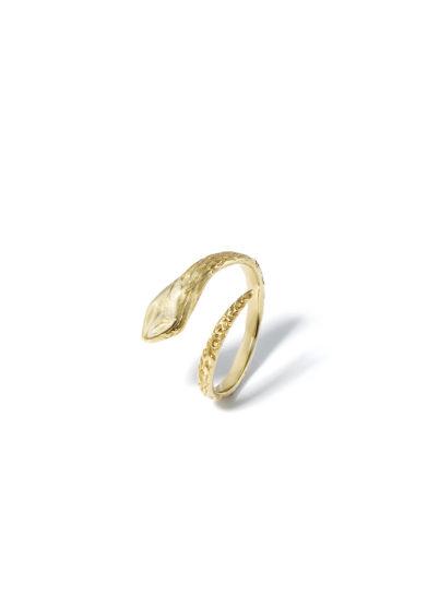 anello donna snake in oro giallo atelier molayem