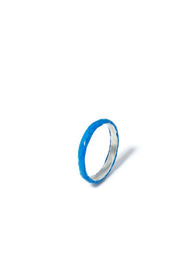 atelier molayem anello snake eternity smalto blu