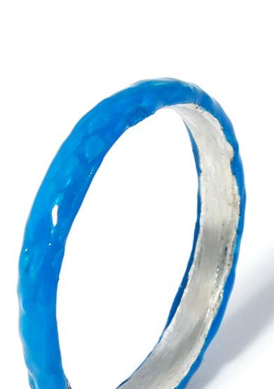 atelier molayem anello snake girl eternity smalto blu