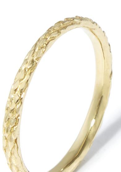 fede serpente bimba oro giallo 9kt atelier molayem