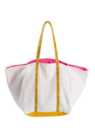 borsa calypso in lino bianca iacobella