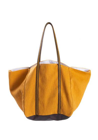 iacobella borsa calypso in lino giall