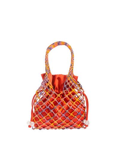 iacobella secchiello rete multicolor arancio