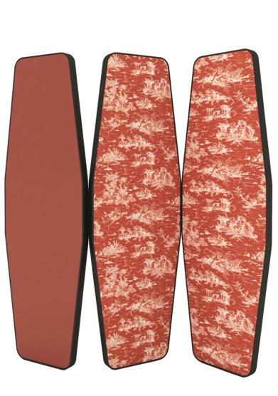 paravento monica gasperini madame red terracotta