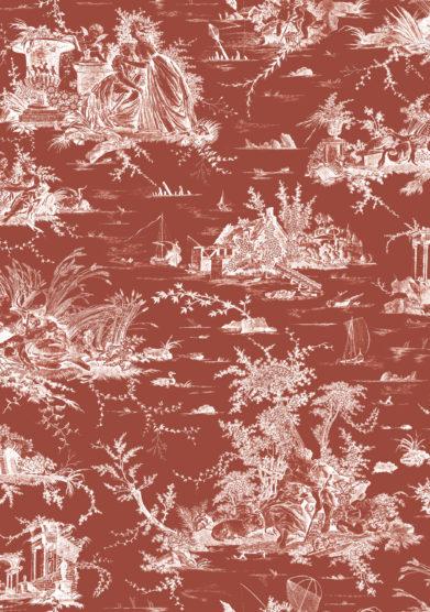monica gasperini paravento madame toile red terracotta