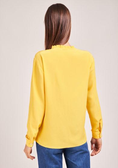 camicia in seta gialla chiara bloom