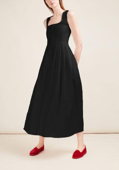 Gioia bini abito chiara in lino nero