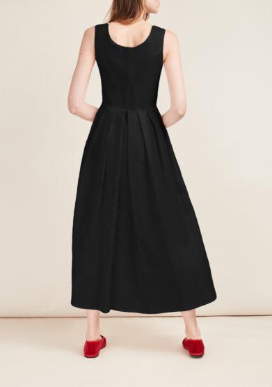 abito chiara in lino nero gioia bini