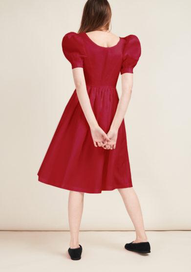 abito clo lino rosso gioia bini