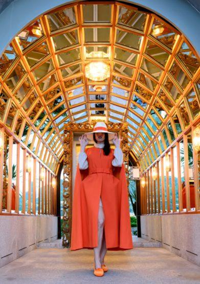 Cappa From Cosm to Earth girocollo arancio in lana Kappe Federica Bonifaci GHT