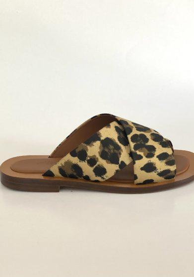 Ambleme sandali madrague stampa animalier
