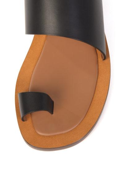 Ambleme sandali malaparte infradito in pelle nera