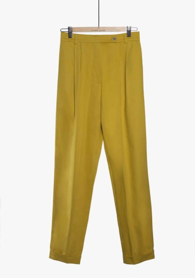 Chiara Bloom pantalone perfect pants cotone senape