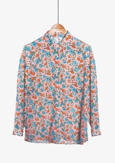 Chiara bloom camicia Jasmine in seta a fiori