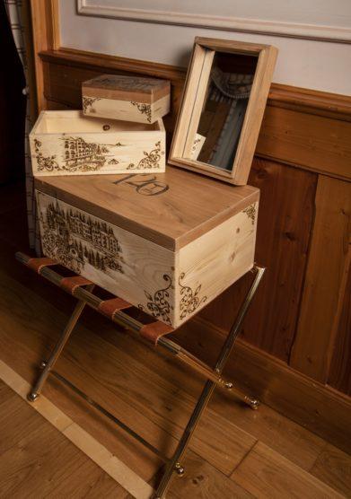 bauletti portagioie in legno Eliana Zandegiacomo cristallo resort