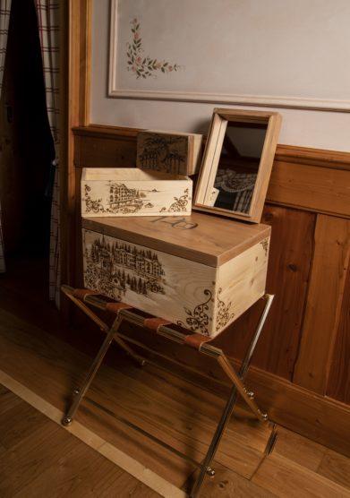 Cristallo resort bauletti portagioie in legno Eliana Zandegiacomo