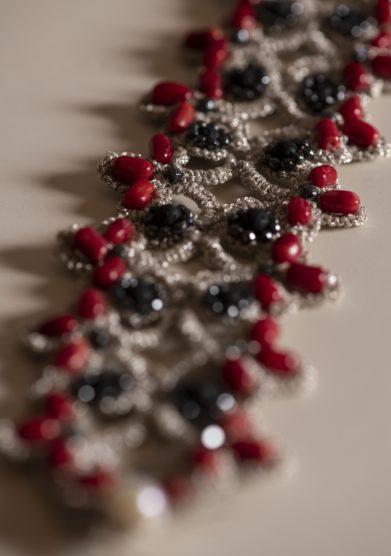 Cristallo resort bracciale Laura Girotto con pietre dure cristalli perle di fiume