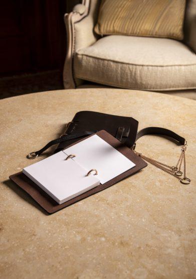 Cristallo resort notebook A5 cuoio e bronzo Alba Gallizia