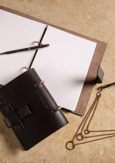 Cristallo resort notebook A6 cuoio e bronzo Alba Gallizia