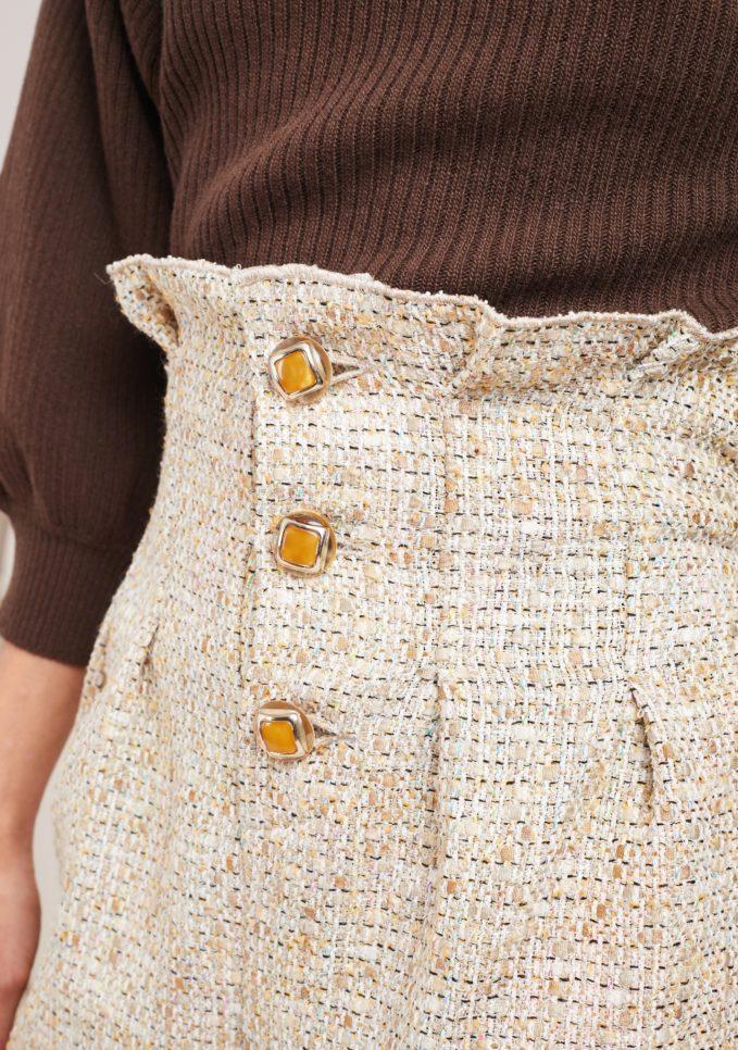 Le globazine shorts vita alta beige montalcino