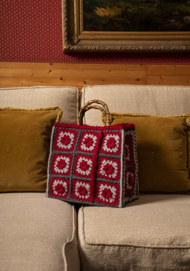 Cristallo Resort borsa lana crochet Grunny Simonetta Orlandi