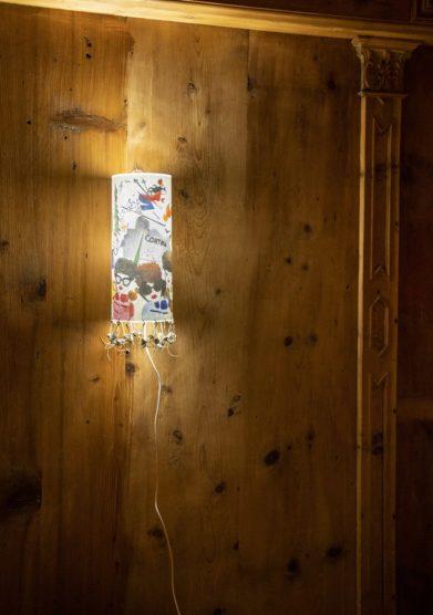Cristallo resort lampada illustrata luce di Cortina Valentina D'Andrea