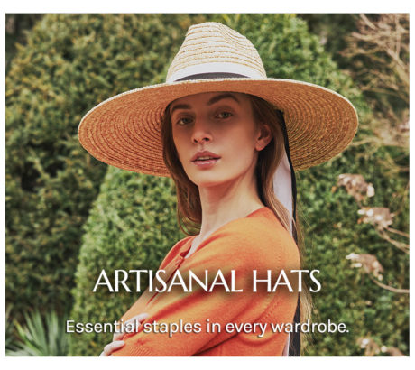 Artisanal hats for The Dressing Screen