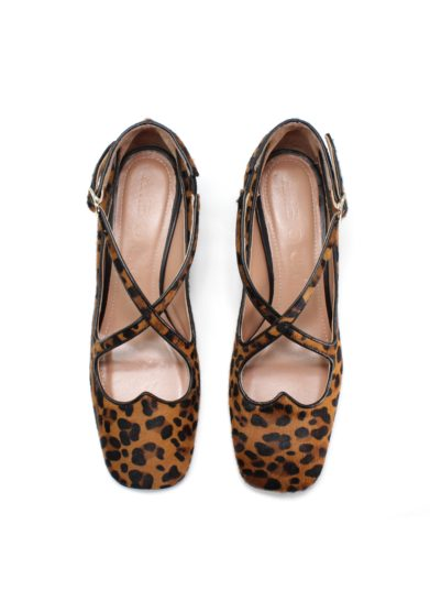 Pump Two for Love in pony leopardo A bocca
