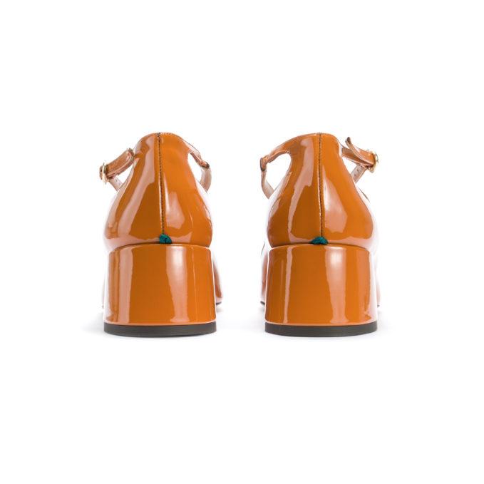 Abocca Pump Two for Love in vernice cotto tacco basso