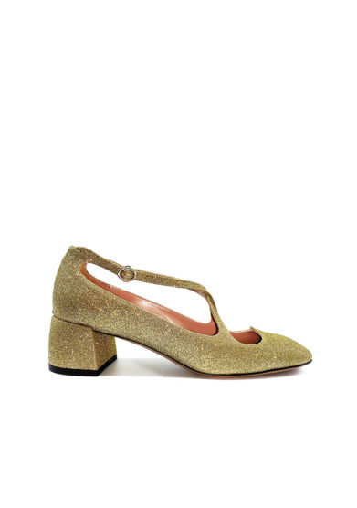 A.bocca pump Two for Love in glitter color oro