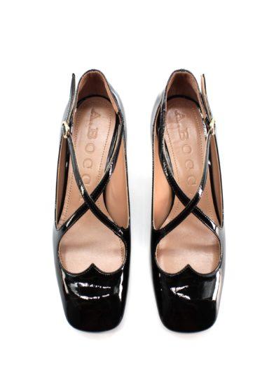 two for love kitten heel vernice nera A.bocca