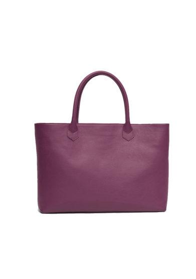 Amira Bags shopping bag grape in pelle martellata