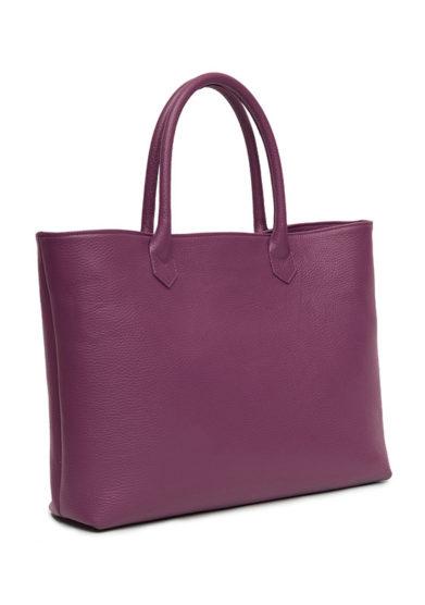 shopping bag grape in pelle martellata Amira Bags