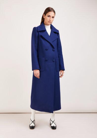 Annagiulia firenze cappotto doppio petto lana blu
