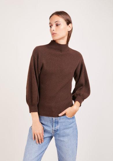 Irreplaceable Elisa Giordano maglia miami in lana e cashmere marrone