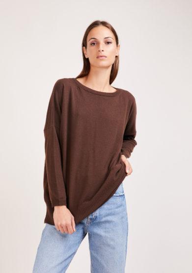 Irreplaceable elisa giordano maglia Torino in lana e cashmere marrone