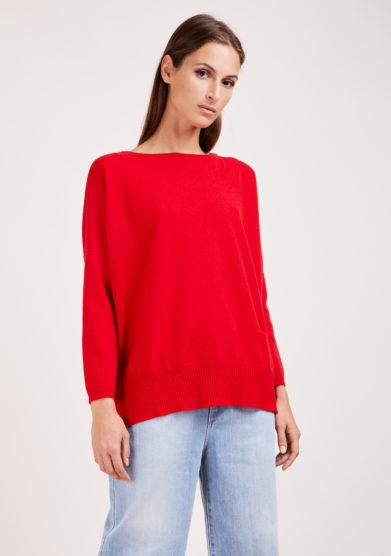 Irreplaceable elisa giordano maglia Torino in lana e cashmere rossa