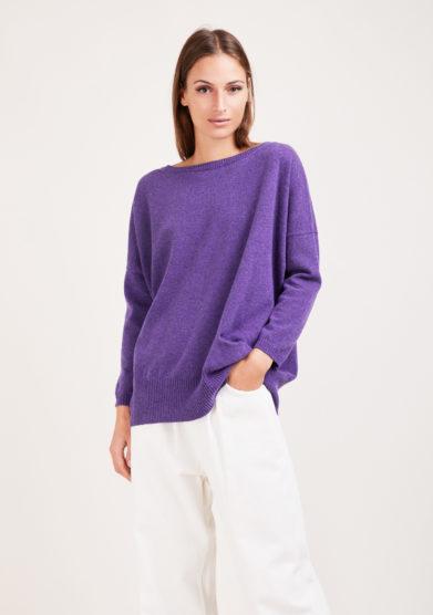 Irreplaceable elisa giordano maglia Torino in lana e cashmere viola