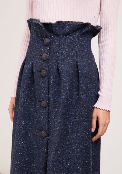 gonna Le Globazine lapland in tweed blu notte